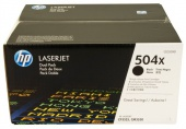 CE250XD Dual Pack Black Print Cartridge with ColorSphere Toner