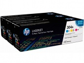 304A CYM Tri-Pack LaserJet Toner Cartridge