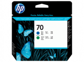 HP 70 Blue and Green Printhead